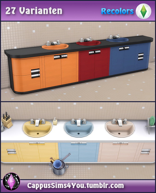 Harmony round sink at CappusSims4You image 1375 Sims 4 Updates