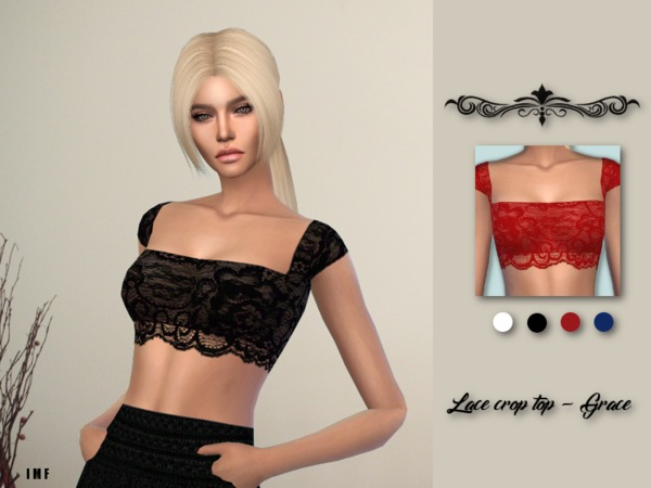 Sims 4 IMF Lace Crop Top Grace by IzzieMcFire at TSR