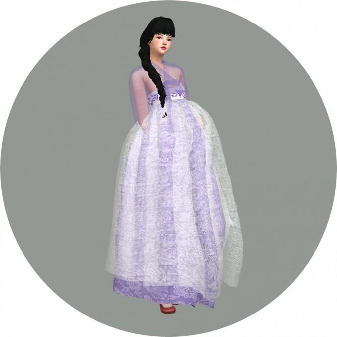 Sims 4 See Through Hanbok at Marigold