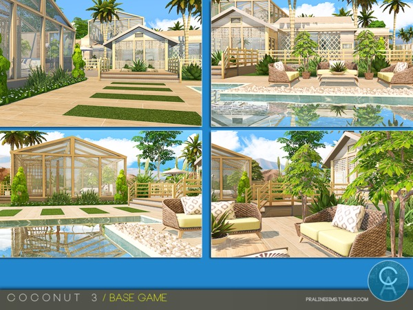 Coconut 3 house by Pralinesims at TSR image 1410 Sims 4 Updates