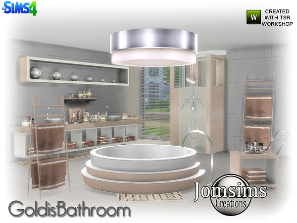 Goldis bathroom by jomsims at TSR image 1416 Sims 4 Updates