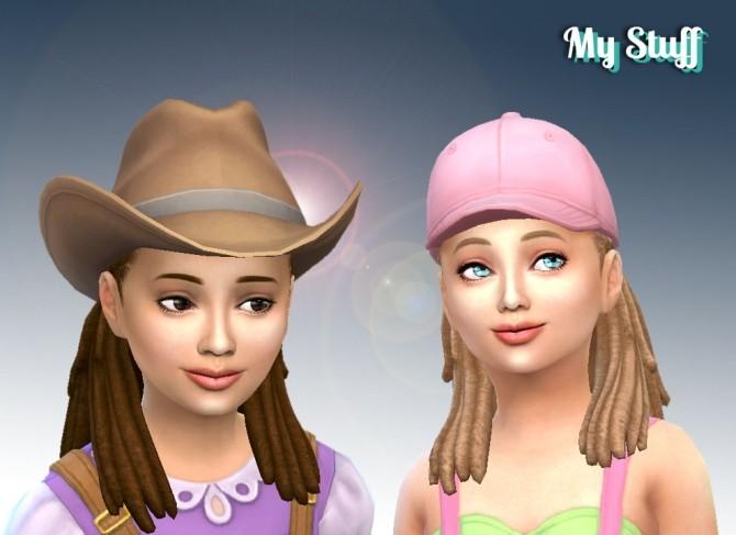 Sims 4 Box Braid Half Tied Conversion at My Stuff