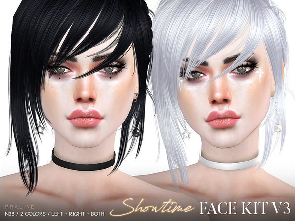 Showtime Face Kit V3 / N38 by Pralinesims at TSR image 142 Sims 4 Updates