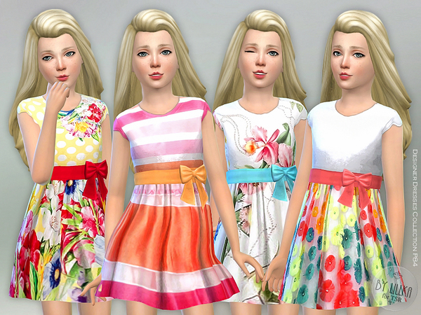Designer Dresses Collection P84 by lillka at TSR image 1420 Sims 4 Updates