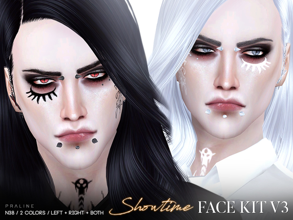Showtime Face Kit V3 / N38 by Pralinesims at TSR image 143 Sims 4 Updates