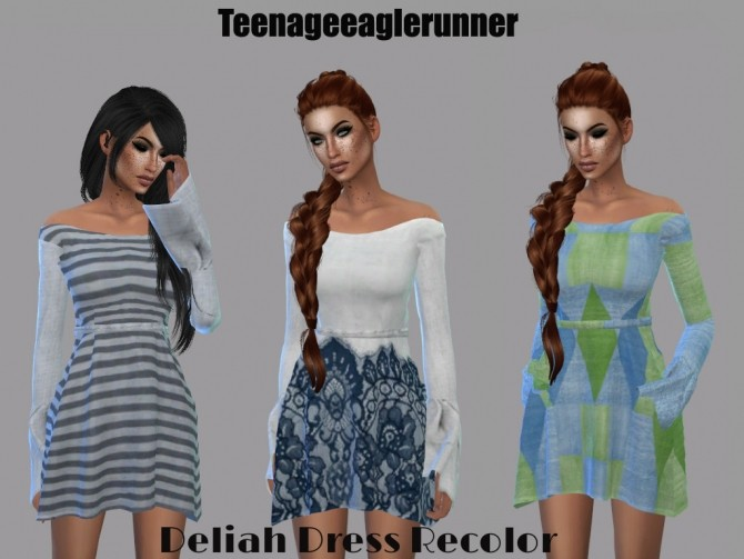 Dahliah Dress Recolor at Teenageeaglerunner image 1484 670x503 Sims 4 Updates