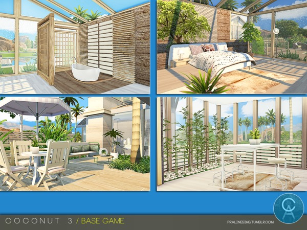 Sims 4 Coconut 3 house by Pralinesims at TSR