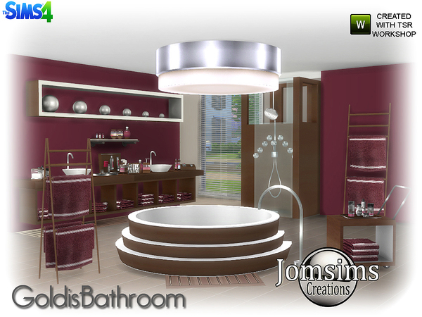 Goldis bathroom by jomsims at TSR image 1516 Sims 4 Updates