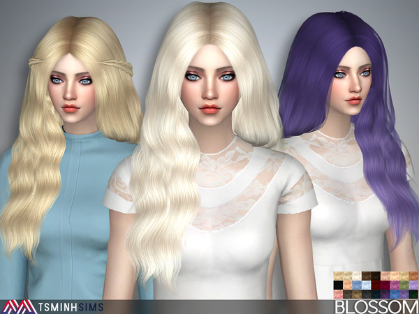 Blossom Hair 37 Set by TsminhSims at TSR image 1517 Sims 4 Updates