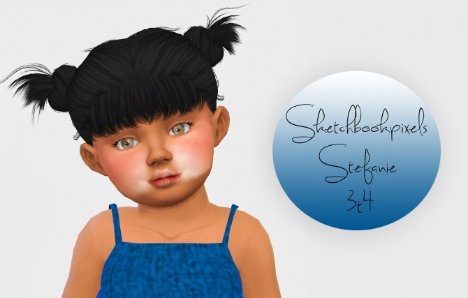Sims 4 Sketchbookpixels Stefanie hair 3T4 at Simiracle
