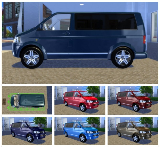 Sims 4 VW T5 Caravelle Highline 2010 at OceanRAZR