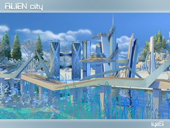 Sims 4 Alien City at Soloriya