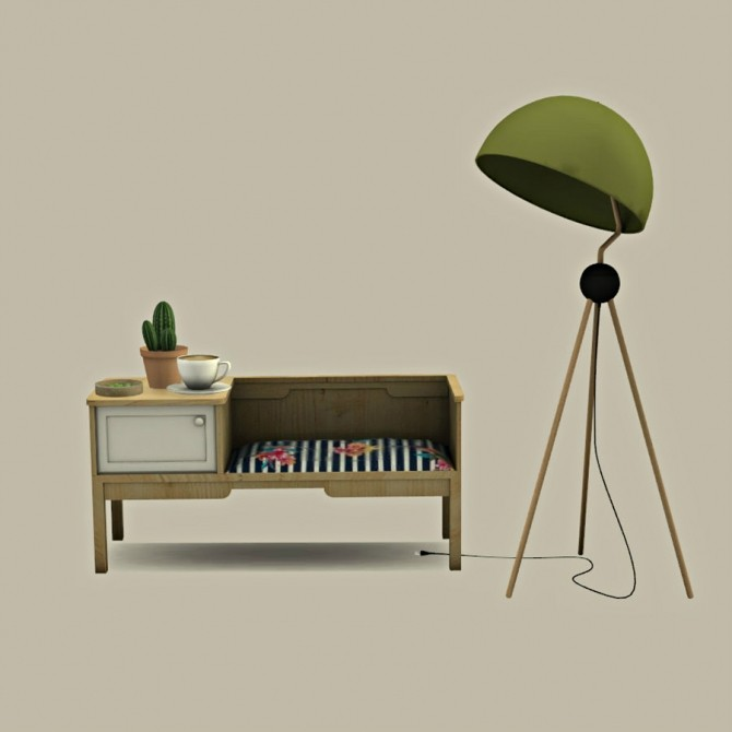 Bench Table and Floor Lamp at Leo Sims image 1633 670x670 Sims 4 Updates
