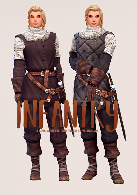 Sims 4 Infantry The Sims Medieval outfit conversion at Valhallan