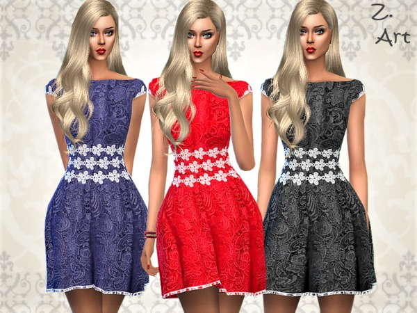 Sims 4 VintageZ 08 summer dress by Zuckerschnute20 at TSR