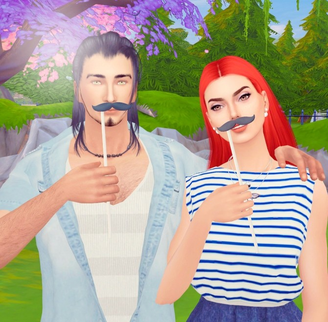 Your mustache poses at Rethdis love image 1639 670x658 Sims 4 Updates