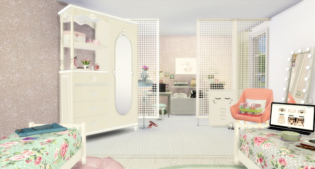 Gentil Twin Girls Bedroom At Lily Sims