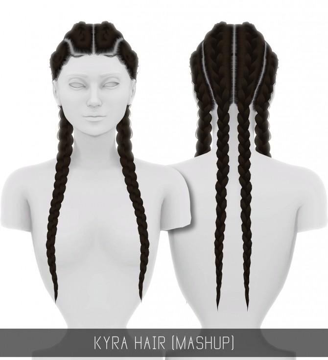 KYRA HAIR MASHUP at Simpliciaty image 1692 670x736 Sims 4 Updates