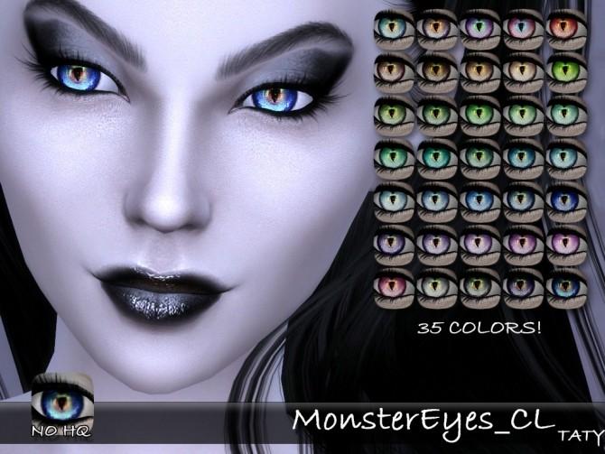 Sims 4 Monster eyes CL at Taty – Eámanë Palantír
