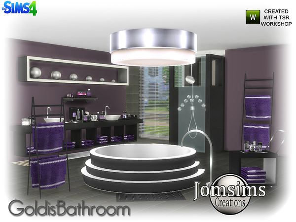 Goldis bathroom by jomsims at TSR image 1716 Sims 4 Updates