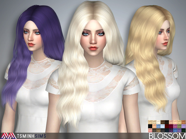 Blossom Hair 37 Set by TsminhSims at TSR image 1717 Sims 4 Updates