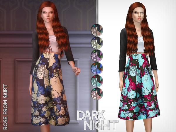 Rose Prom Skirt by DarkNighTt at TSR image 1719 Sims 4 Updates