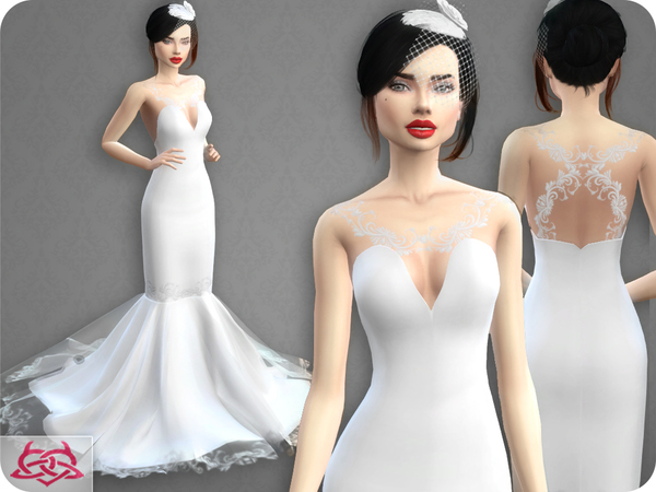 Sims 4 Wedding Dress 8 RECOLOR 5 by Colores Urbanos at TSR
