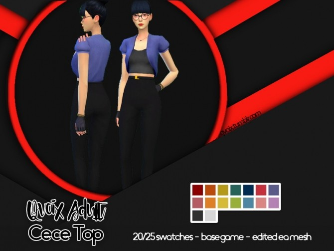 Sims 4 Cece Top at qvoix – escaping reality