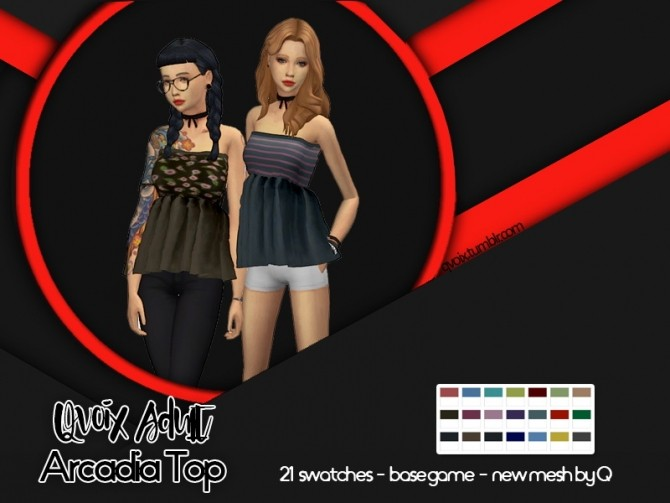 Sims 4 Arcadia Top at qvoix – escaping reality