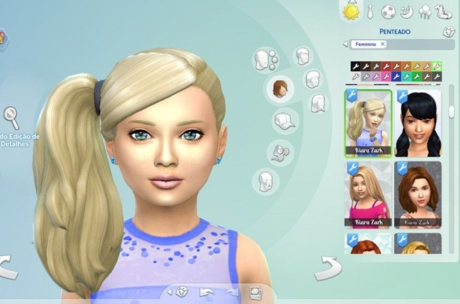 Sims 4 Side Ponytail at My Stuff