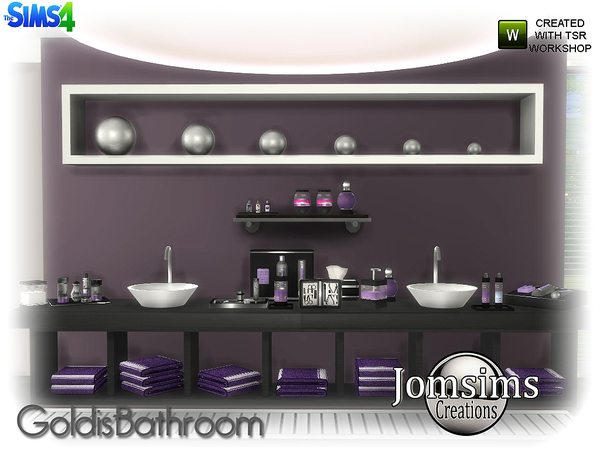 Goldis bathroom by jomsims at TSR image 1816 Sims 4 Updates