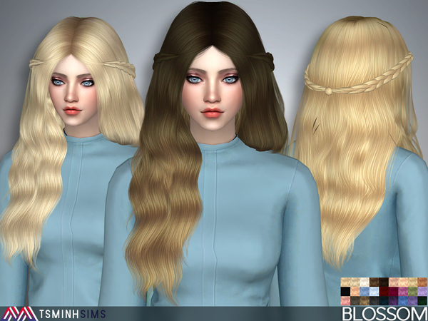 Blossom Hair 37 Set by TsminhSims at TSR image 1817 Sims 4 Updates