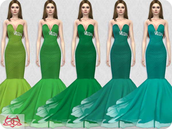 Sims 4 Wedding Dress 8 RECOLOR 6 by Colores Urbanos at TSR
