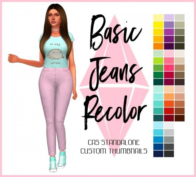 Sims 4 Basic Jeans Recolor by Sympxls at SimsWorkshop
