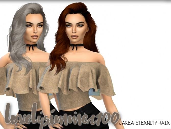 Sims 4 Jakea ETERNITY hair recolor by xLovelysimmer100x at SimsWorkshop