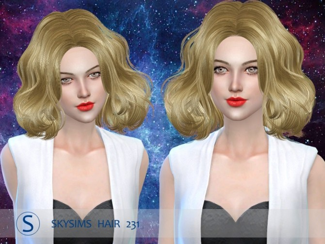 Sims 4 Hair 231 (Pay) by Skysims at Butterfly Sims