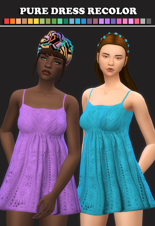 Sims 4 Pure Dress Recolors at Maimouth Sims4