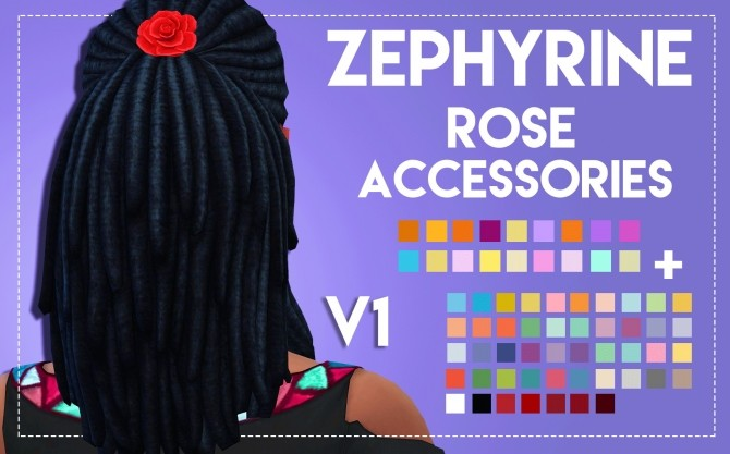 Zephyrine Rose Accessories by Weepingsimmer at SimsWorkshop image 18941 670x417 Sims 4 Updates