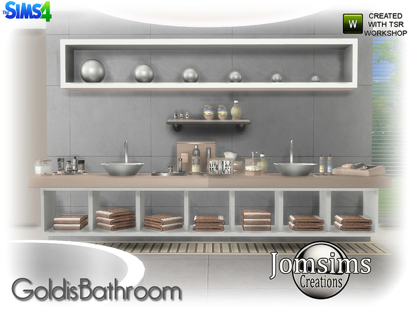 Goldis bathroom by jomsims at TSR image 1915 Sims 4 Updates