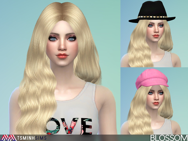Blossom Hair 37 Set by TsminhSims at TSR image 1916 Sims 4 Updates