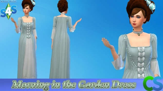 Sims 4 Palace Of Versailles Morning in the Garden Dress by cepzid at SimsWorkshop