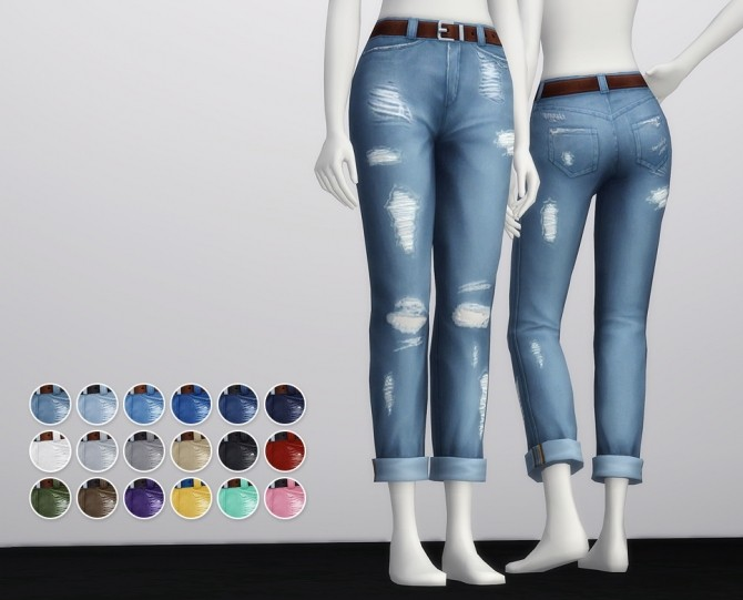 Cropped roll up jeans F (18 colors) at Rusty Nail image 1963 670x541 Sims 4 Updates