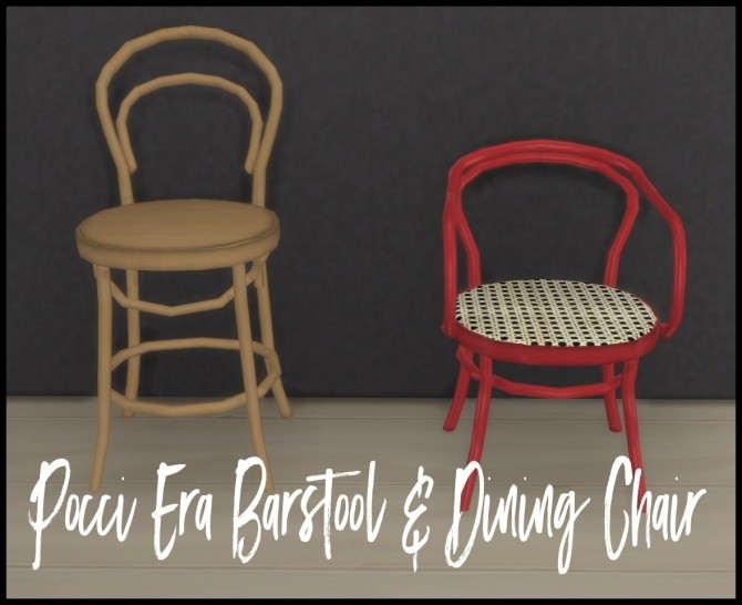 Era Barstool & Dining Chair by Sympxls at SimsWorkshop image 1965 670x546 Sims 4 Updates
