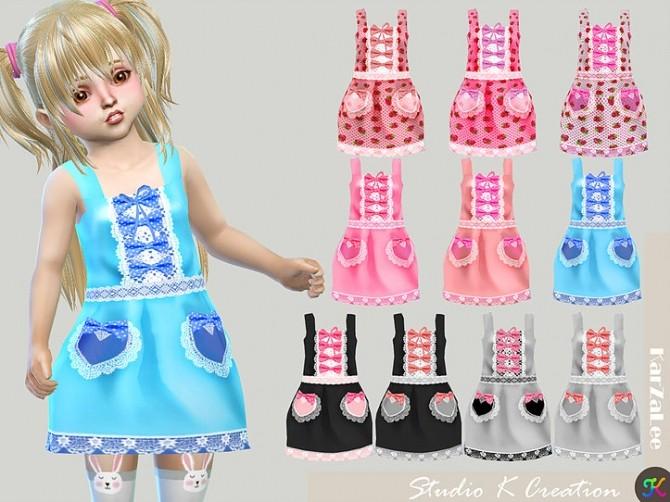 Ichigo dress for toddler at Studio K Creation image 1992 670x502 Sims 4 Updates