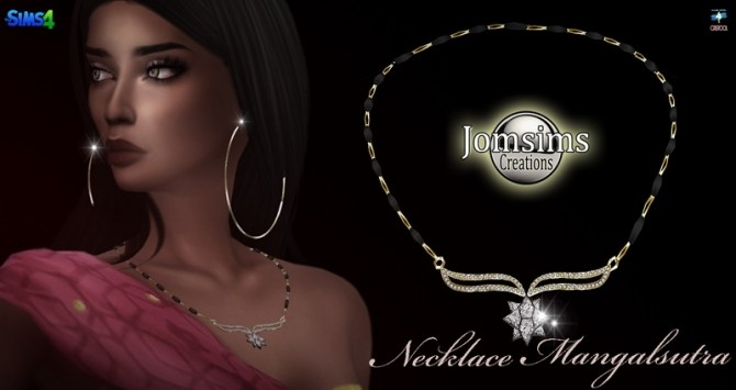 Mangalsutra necklace at Jomsims Creations image 20110 670x355 Sims 4 Updates