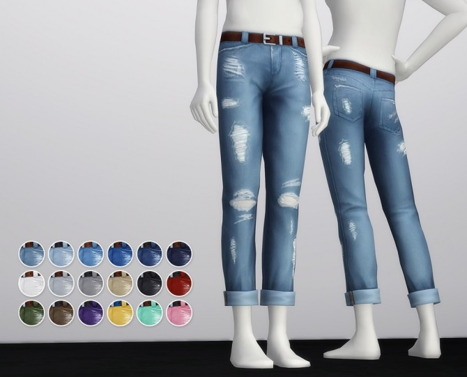 Cropped roll up jeans M (18 colors) at Rusty Nail image 20111 670x541 Sims 4 Updates