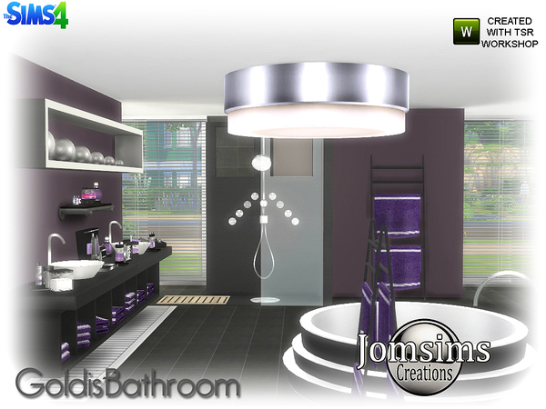 Goldis bathroom by jomsims at TSR image 2016 Sims 4 Updates