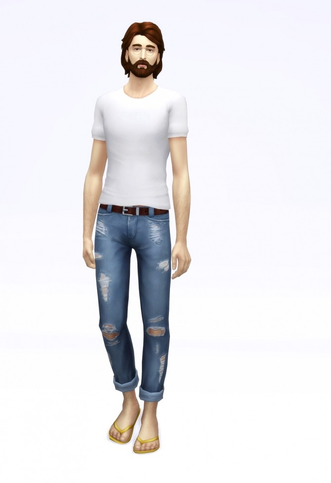 Cropped roll up jeans M (18 colors) at Rusty Nail image 2023 670x977 Sims 4 Updates