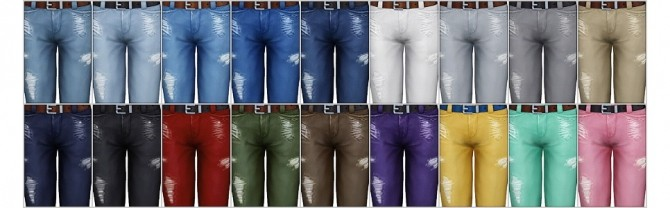 Cropped roll up jeans M (18 colors) at Rusty Nail image 2053 670x208 Sims 4 Updates