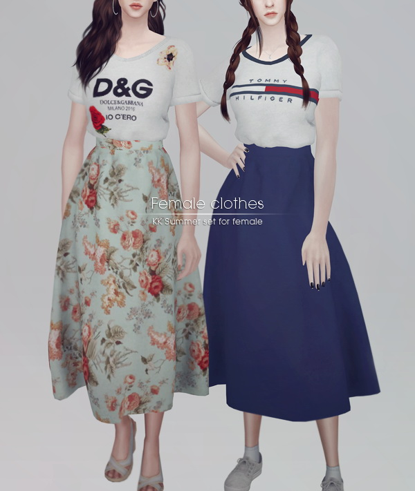 Summer set for female at KK's Sims4 – ooobsooo image 2091 Sims 4 Updates